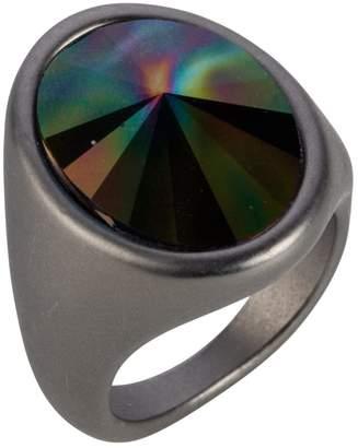 Nadia Minkoff - Oval Ring Matt Gunmetal & Rainbow Dark