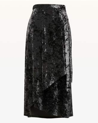 Juicy Couture Crushed Velvet Wrap Skirt