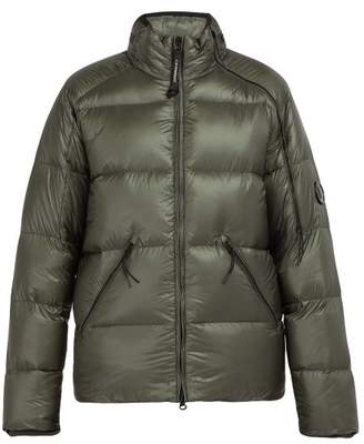 C.P. Company Lens Sleeve Quilted Down Filled Jacket - Mens - Brown