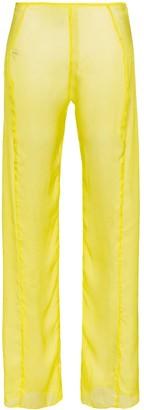 Supriya Lele wide leg silk chiffon trousers