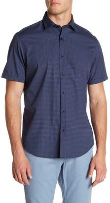 Toscano Short Sleeve Broken Grid Check Print Shirt