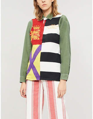 Polo Ralph Lauren Unisex striped cotton rugby top