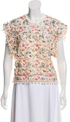 Tularosa Embroidered Short Sleeve Top