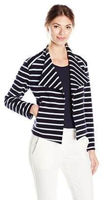 Calvin Klein Women's Ottoman Striped Flyaway Jacket