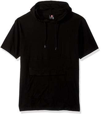 Southpole Men's Anorak Colorblock Short Sleeve Hoodie Single Jersey