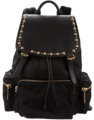Burberry Large Leather Rucksack Backpack