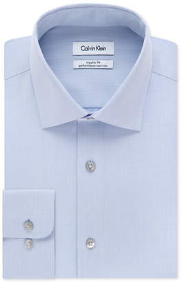 Calvin Klein Men Big & Tall X Extra-Slim Fit Performance Non-Iron Dress Shirt