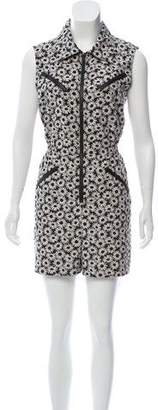 Anna Sui Sleeveless printed romper