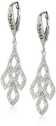 """Judith Jack """"Earristable Wonders"""" Sterling Silver/Swarovski Marcasite Chandelier Drop Earrings $115 thestylecure.com"""