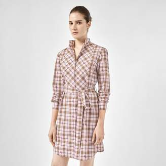 Burberry EKD Check Cotton Tie-waist Shirt Dress