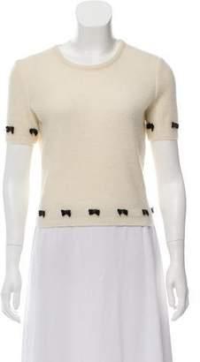 John Galliano Short Sleeve Wool Knit Top