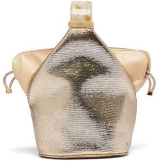 Bienen Davis Bienen-davis - Kit Metallic Canvas Clutch - Womens - Gold