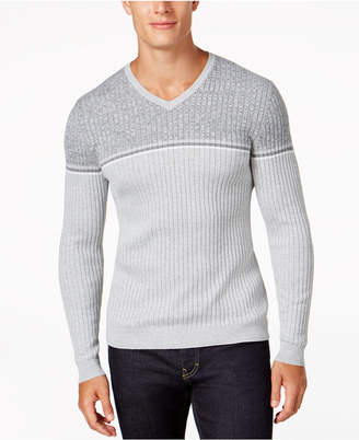 Alfani Men's Texture Stripe V-Neck Sweater