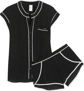 Calvin Klein Underwear - Voile Pajama Set - Black $80 thestylecure.com