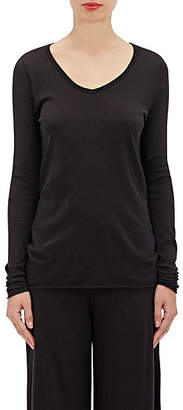 Skin Women's Organic Cotton V-Neck T-Shirt - Black