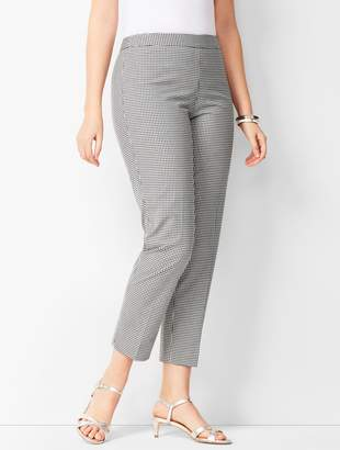 Talbots Tailored Gingham Crops - Curvy Fit