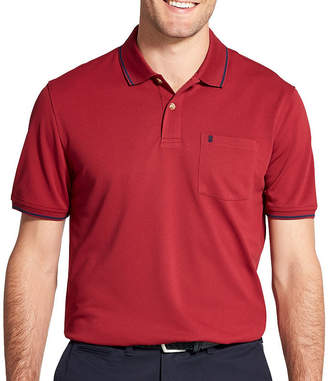Izod Easy Care Short Sleeve Knit Polo Shirt