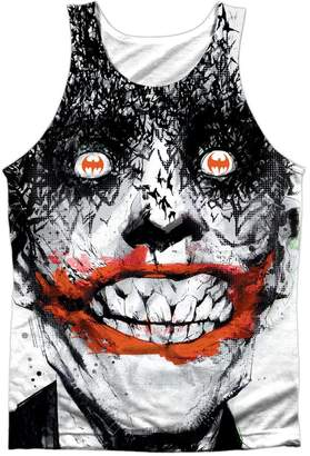 Batman Comic Book Creepy Joker Bats On The Brain Front Print Tank Top Shirt