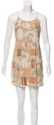 Alice + Olivia Lace-Accented Embellished Dress