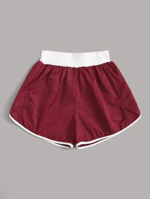Shein Contrast Binding Sports Shorts
