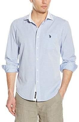 U.S. Polo Assn. Men's Long Sleeve Classic Fit Horizontal Stripe Sport Shirt