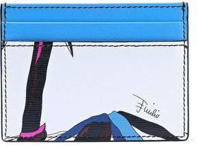 Emilio Pucci Printed Textured-Leather Cardholder