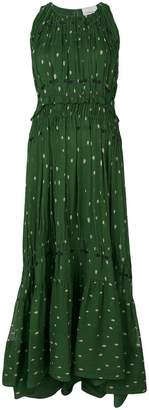 3.1 Phillip Lim Printed pintucked gown