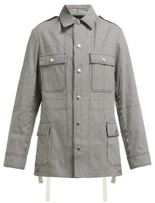 La Fetiche - Veruschka Striped Cotton Jacket - Womens - Navy White
