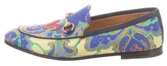Gucci Abstract Print Horsebit Loafers