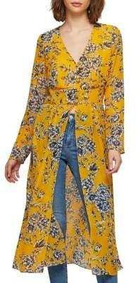 Miss Selfridge Printed Long-Sleeve Tunic