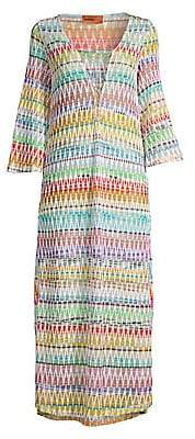 Missoni Mare Women's Bell Sleeve Zig-Zag Long Coverup