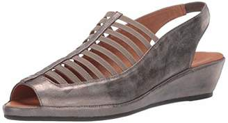 Gentle Souls by Kenneth Cole Women's Lee Slingback Low Wedge Elastic Sandal with Backstrap