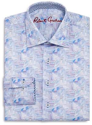Robert Graham Boys' Geometric Print Dress Shirt - Big Kid