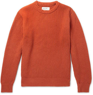 Universal Works Ribbed Wool-Blend Sweater - Orange