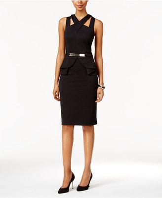Thalia Sodi Halter Peplum Sheath Dress, Only at Macy's $89.50 thestylecure.com