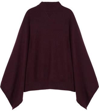 8a4ee0df44 Givenchy Oversized Cashmere Turtleneck Poncho - Burgundy