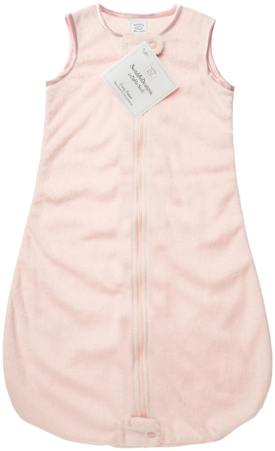 Swaddle Designs Zzzipme Sack Solid Baby Velvet, Pink, 6-12 Months