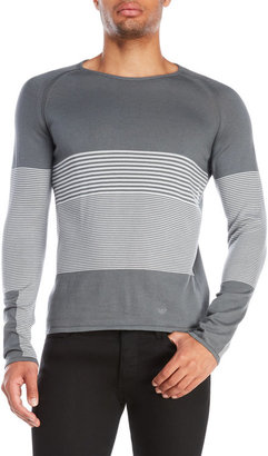 Emporio Armani Stripe Raglan Sweater