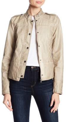 Sebby Quilted Faux Leather Jacket