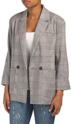 Paperheart Juniors Plaid Blazer