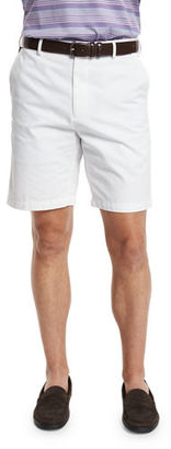 Peter Millar Winston Washed-Twill Shorts, White $85 thestylecure.com
