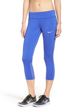 Women's Nike Power Epic Run Crop Tights $65 thestylecure.com