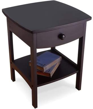 Winsome Wood Curved Nightstand / End Table