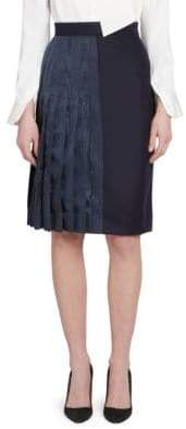 Thom Browne Half-Pleated A-line Skirt
