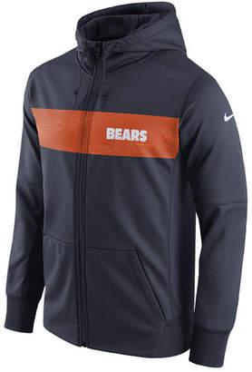 Nike Men's Chicago Bears Seismic Therma Full-Zip Hoodie
