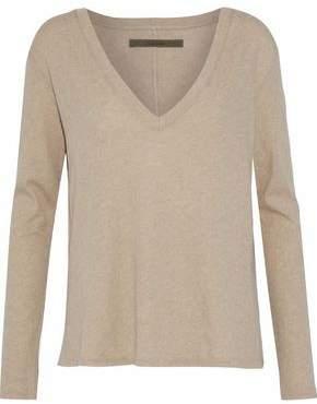Enza Costa Mélange Cotton And Cashmere-Blend Top