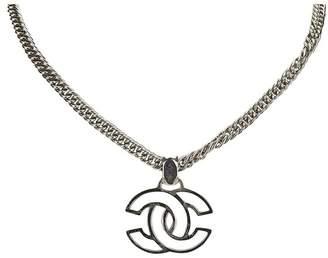 Chanel Vintage Cc Pendant Necklace