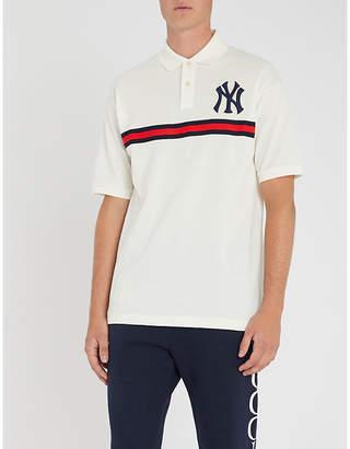 Gucci NY logo cotton polo shirt