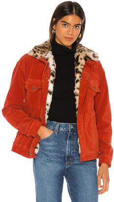 Pam & Gela Oversized Faux Leopard Jacket