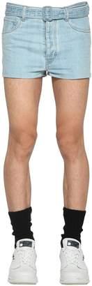 Prada Denim Jean Shorts W/ Belt